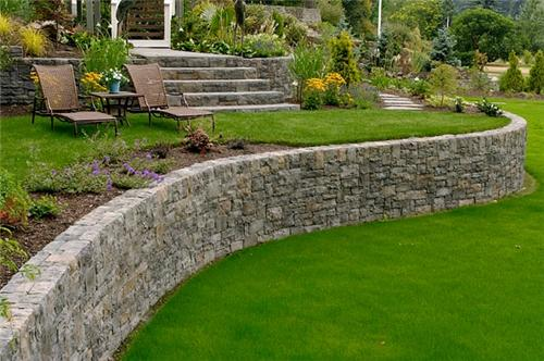retaining walls and landscape ideas